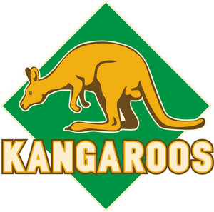 Kangaroo Sports Mascot Shield