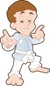Karate Kid - Cartoon Character