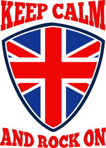 Keep Calm Rock On British Flag