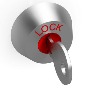 Key In Lock Showing Security