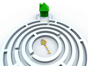 Key To House In Maze Shows Property Search