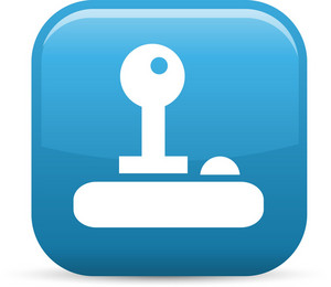 Key Unlock Elements Glossy Icon
