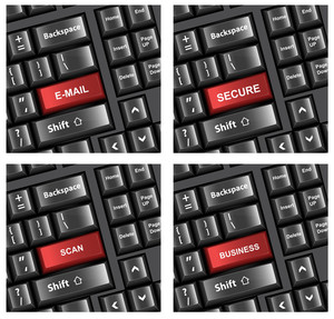 Keyboard Buttons Text Concepts Vectors