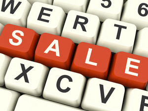 Keys Spelling Sale As Symbol For Discounts And Promotions