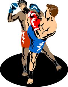 Kickboxer Kicking