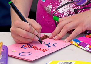 Kid Making Greeting Card