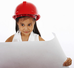 Kid Role Playing As Engineer