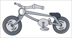 Kids Bike Cartoon - Vector Illustrations