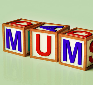 Kids Blocks Spelling Mum As Symbol For Motherhood And Parenting