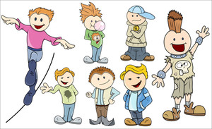 Kids Boys - Vector Illustrations