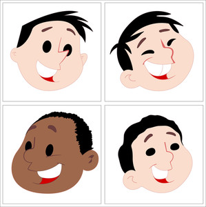 Kids Faces Vectors