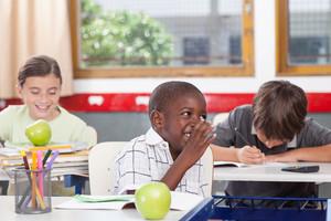 Kids on the classroom