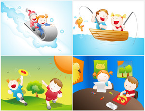 Kids Vector Backgrounds