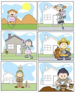 Kids Vector Illustration In Cartoon Style