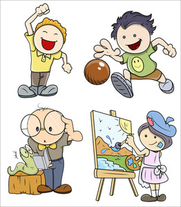 Kids Vector Set