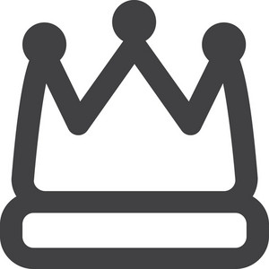 King Crown Stroke Icon