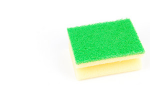 Kitchen Sponge On White