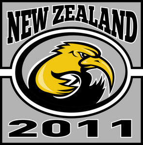 Kiwi Rugby Player With Ball Nz 2011