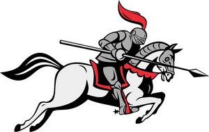 Knight With Lance Riding Horse