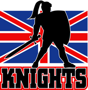 Knight With Sword Shield Gb British Flag