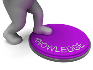 Knowledge Button Showing Learning And Intelligence