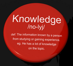 Knowledge Definition Button Showing Information Intelligence And Education