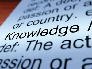 Knowledge Definition Closeup Showing  Education