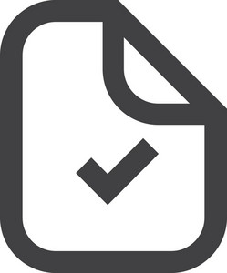 Label With Check Mark Stroke Icon
