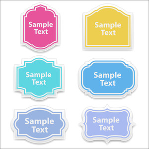 Labels Designs Vectors