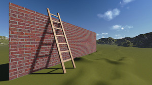 Ladder And Wall
