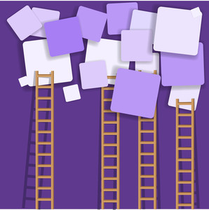 Ladders And Squares - Vector Background