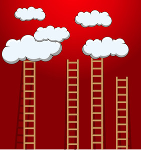 Ladders To The Clouds - Vector Background