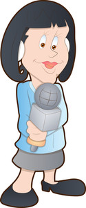 Lady Reporter - Cartoon Character