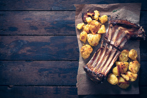 Lamb Ribs And Potatoes