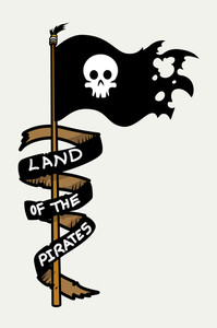 Land Of The Pirates - Vector Cartoon Illustration