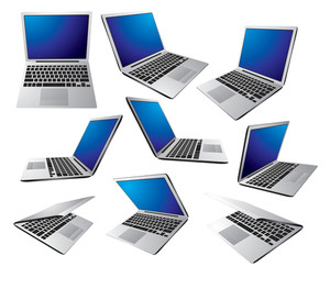Laptops. Vector.
