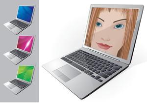 Laptops. Vector.