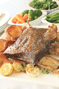 Large Beef Rib Sunday Roast Dinner
