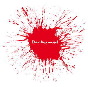 Large Red Blood Splash Vector Background