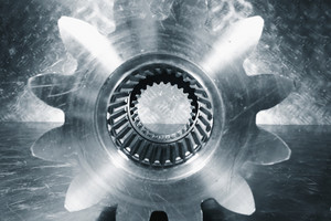 large single titanium cogwheel, gear