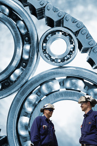 large titanium bearings and engineers