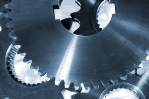 large titanium cogs and gears