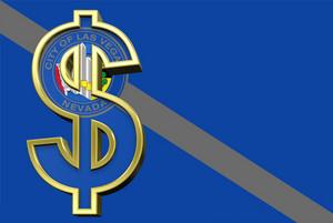 Las Vegas Flag With Dollar Sign.