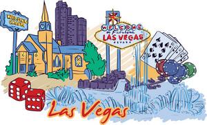 Las Vegas Vector Doodle