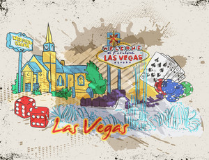 Las Vegas Vector Illustration