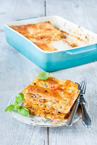 Lasagna Slice On The Plate