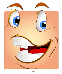 Laughing Box Smiley Vector