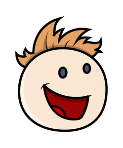 Laughing Boy Cartoon Face