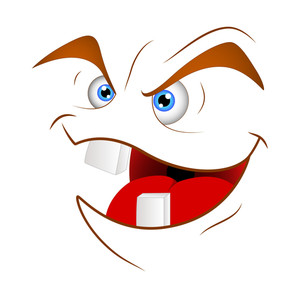 Laughing Cartoon Face Illustration