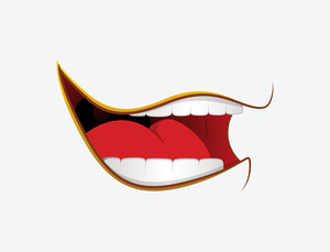 Laughing Cartoon Mouth Expression